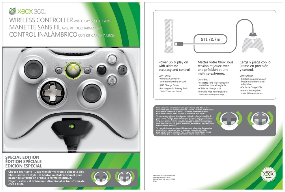 Xbox 360 Wireless Controller With Play & Charge Kit - MGaceman\'s ...