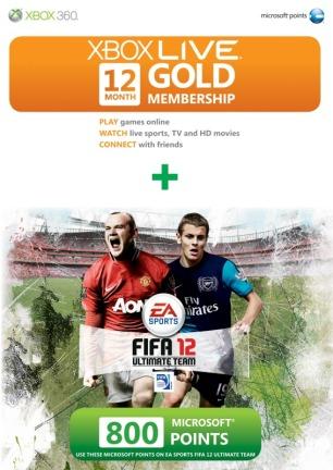 FIFA 12 XBL + 800 MSP